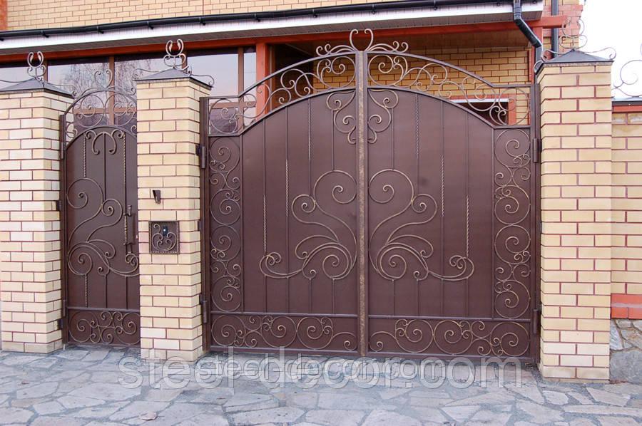 Ворота и калитка фото