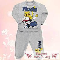 Тёплые детские костюмы Покемон Пикачю для мальчиков и девочек от 2 до 6 лет (4875-2)