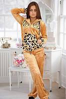 Женская махровая пижама-тигровая