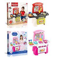 Игровая кухня для девочек 1525-26, 18 предметов, пластик, в коробке 56х56х10 см, от 3-х лет