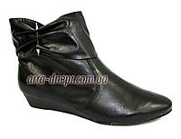Кожаные женские демисезонные ботинки . В наличии 36-41 размеры, фото 1