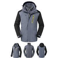 Куртка водо-ветронепроницаемая 3в1 SoftShell мужская NatureHike серый NH16F001-M