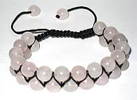 Браслет Шамбала с розового кварца код 40008