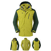 Куртка водо-ветронепроницаемая 3в1 SoftShell мужская NatureHike оливковый NH16F001-M