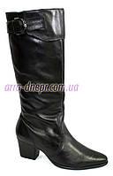 Женские демисезонные сапоги на каблуке, натуральная кожа. В наличии 36-41 размеры, фото 1