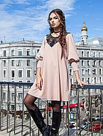 Нежное нарядное платье А-силуэта