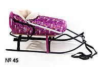 Мехвой конверт для санок и колясок со снеговиками