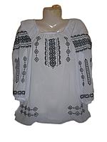 Жіноча вишита блузка з узором (Женская вышитая блузка с узором) BL-0012