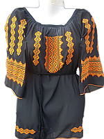 "Жіноча вишита блузка ""Палаючий орнамент"" (Женская вышитая блузка ""Горящий орнамент"") BL-0026"
