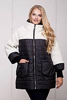 Стильная женская зимняя куртка больших размеров (рр 54-64), разные цвета