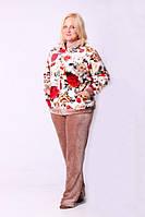 Теплая махровая женская пижама. Размер: 44, 46, 48, 50