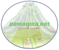Балдахин из вуали с бантом в детскую кроватку, 450х150 см ТМ Ромашка