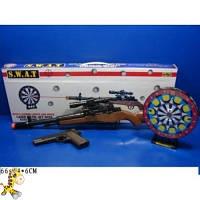 Тир на батарейках с пистолетом и ружьем XZ-H36