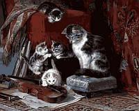 Картина раскраска Mariposa. Котята и скрипка