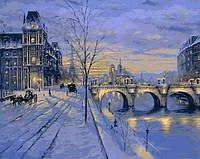 Картина раскраска Mariposa. Париж зимой