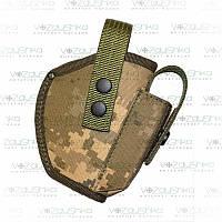 Кобура на поясной ремень для пистолета Форт 17, с чехлом для магазина, пиксель светлый, ткань Оксфорд.
