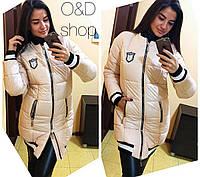 Пуховик-куртка теплая женская на силиконе 2 цвета Gc47