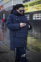 """Зимнее пальто """"MUSIC"""" с встроенными наушниками! т.синее (54-64)"""