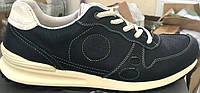 Мужские кроссовки Еcco 14 кожа синие оригинал