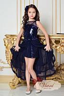 Элегантное нарядное платье для девочки 2в1 Viani МД 263 Размер 7-8 лет