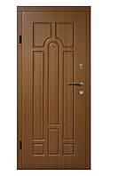 Двери бронированные Украина 86 см, правые VIP Дуб темный (покрытие винорит) 100% вата
