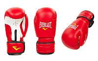 Перчатки боксерские PVC на липучке EVERLAST красный