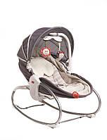 Кресло - кроватка - качалка 3 в 1 «Мамина любовь» с капюшоном (серое) для детей с рождения ТМ Tiny Love 1801706130