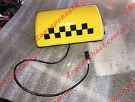 """Фонарь """"Такси"""" желтый (шашка такси желтая на магнитах с проводом)"""