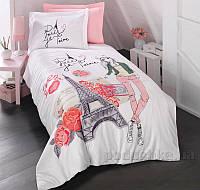Подростковое постельное белье Luoca Patisca Ranforce Amour 19017 Полуторный комплект