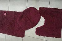 Набор ковриков (4шт.) для ванной комнаты, хлопок 100%, Италия.