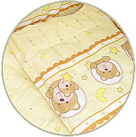 """Наволочка для детской подушки в кроватку """"Мишка в круге"""" 60х40 см, ТМ Ромашка (БЕЗ ОСНОВНОГО РИСУНКА)"""