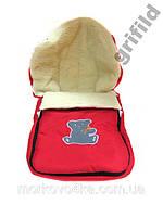 Зимний детский конверт на овчине красный, розовый, фиолетовый, бордовый, синий