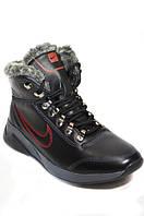 Зимние мужские ботинки из натуральной кожи кроссовочного  типа.