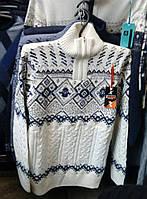 Тёплый вязаный свитер мужской