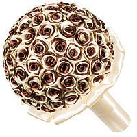 Свадебный букет дублер из атласных лент кремового и шоколадного цвета