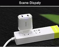 Сетевое зарядное устройство 2 USB USAMS 3.4А