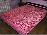 """Покрывало """"Норка пинк"""". Плед из искусстенного меха на двухспльную кровать."""