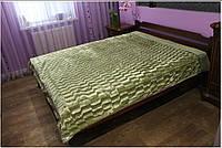 """Двухсторонний плед """"Норка грин"""". Большое покрывало на двухспальную кровать"""