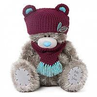 Мишка Тедди в шапочке с шарфиком Me to you