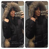 Куртка женская с ушками короткая