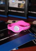 Power Balance энергетический силиконовый женский браслет розового цвета размер S