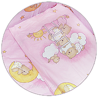 "Наволочка для детской подушки в кроватку ""Мишка на лестнице"" 60х40 см, ТМ Ромашка"