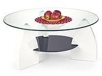 Журнальный столик Halmar Panda со стеклянной круглой столешницей