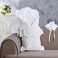 Комплект на выписку: конверт, одеяло, чепчик