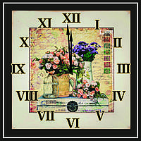 Оригинальные настенные часы винтажные Картина