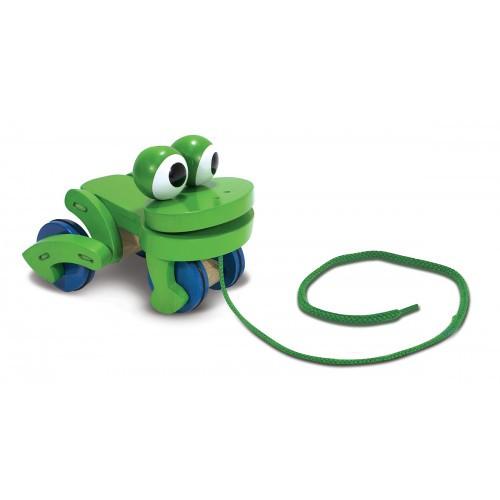 Как сделать лягушку на веревочке
