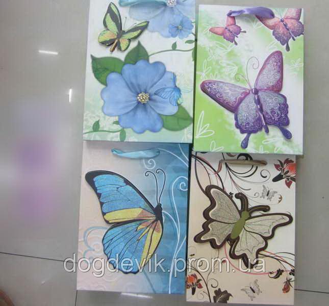 "Пакет подарочный  бумажный  ""Butterfly"""