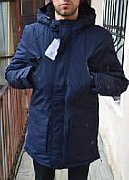 Мужской пуховик Glo-story, цвет - темно-синий