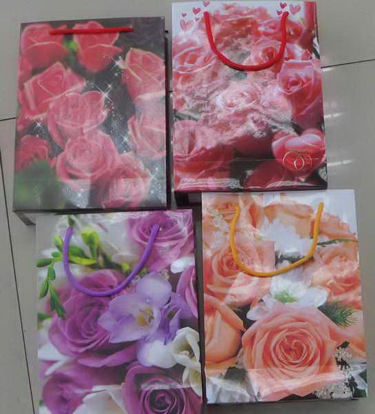 """Пакет подарочный бумажный оптом """"Розы"""""""