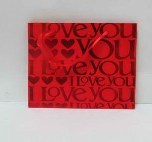 """Пакет подарочный  бумажный  """"I Love you"""""""